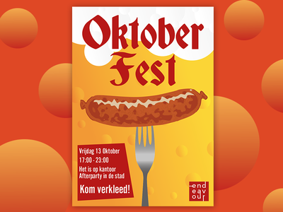 Oktober Fest mathijs boogaert boogaert oktobermathijs party beer sausage worst poster fest