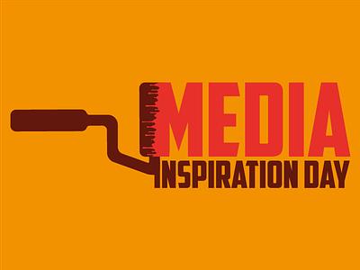 Media Inspiration Day mathijs boogaert boogaert mathijs logo poster inspiration inspiration day media paint paint roller