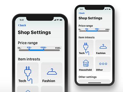 Daily UI #007 || Settings page app shop design apple page 007 boogaert mathijs daily ui ui settings