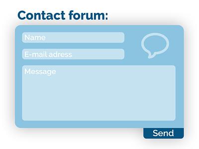 Daily UI #028 || Contact contact us boogaert mathijs forum email daily ui 028 contact