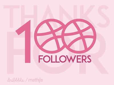 Thanks for 100! boogaert mathijs you thank special follower dribbble followers 100