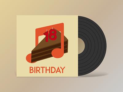 Birthday Playlist || Cover Art party cake record playlist music mathijs lp birthday cover boogaert art album