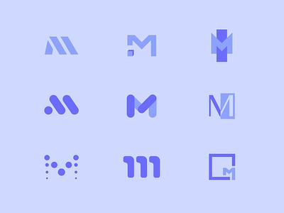 M Logo Proposals design tyse lettering boogaert mathijs logotype hour opleiding media proposals m logo