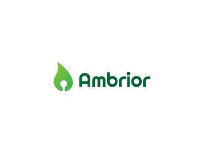 Ambrior Logo boogaert mathijs boogaert mathijs a type logo type food free design healthy green leaf ambrior logo