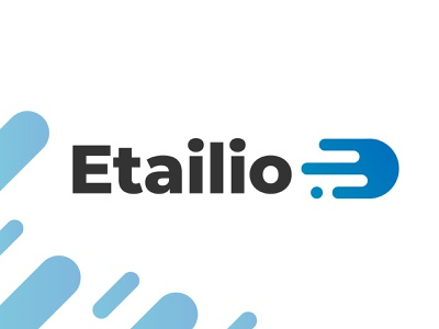 Etailio Logo movement online straightforward commerce design tyse branding icon mark e flexible fluid logo fast