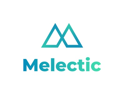 Melectic Logo together connect simple triangle point design tyse brand mark icon logo mountain strong m