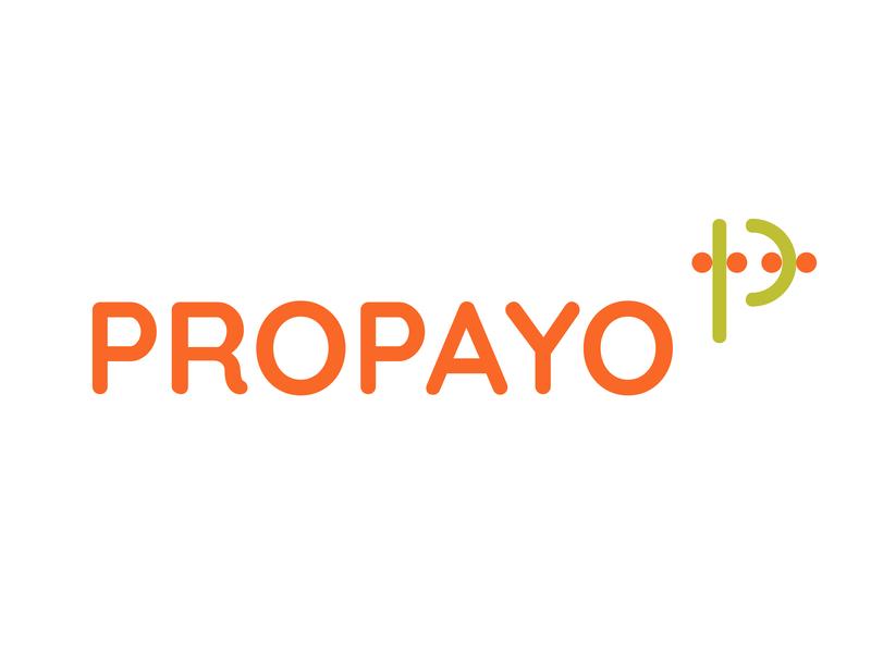 Propayo Logo travel code icon branding tyse design mark p data bright summer logo fruit pay
