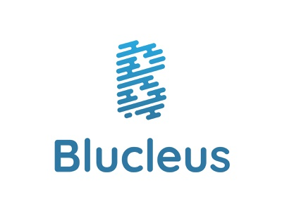Blucleus Logo design tyse branding mark icon software core focus modern elegant air fast fluid logo water b
