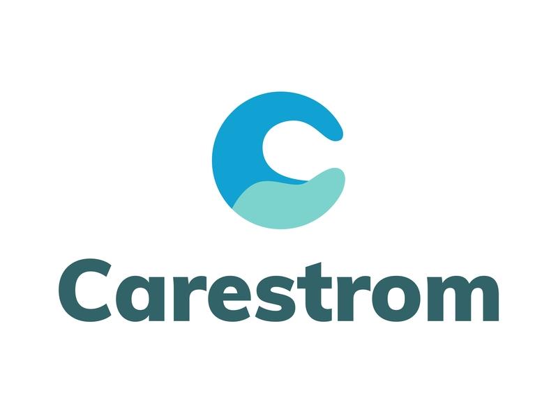 Carestrom kind care storm o design tyse branding mark icon flow water logo c wave