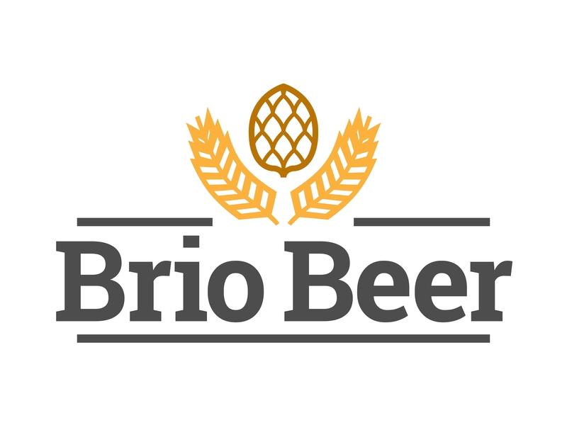 Briobeer brio illustration mark design app tyse alchohol branding icon brand logo drink plant hop beer