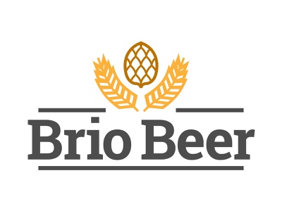 Briobeer brio illustration mark design app tyse alchohol branding icon brand logo drink plant hop beer