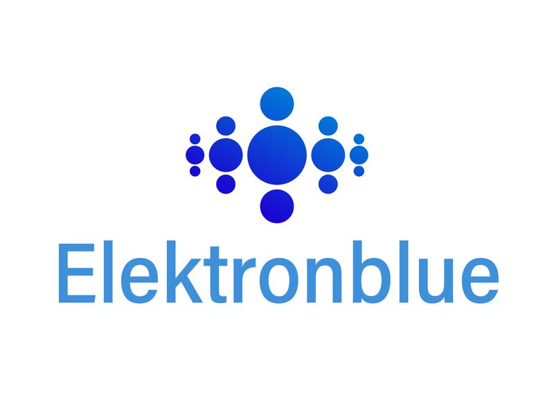 Elektronblue group design tyse mark icon bubble power charge electric water logo