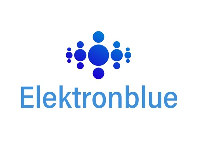 Elektronblue group design tyse mark icon bubble power charge electric water logo