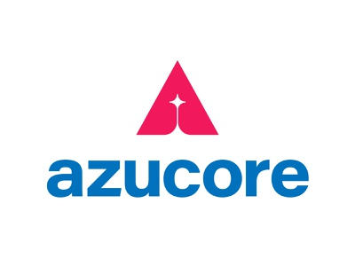Azucore clear rocket sky software a icon tyse design mark logo tech star core