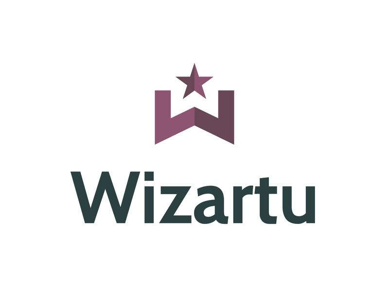 Wizartu enchanted wonder design tyse wizartu mark icon w logo wizardry star magic wizard
