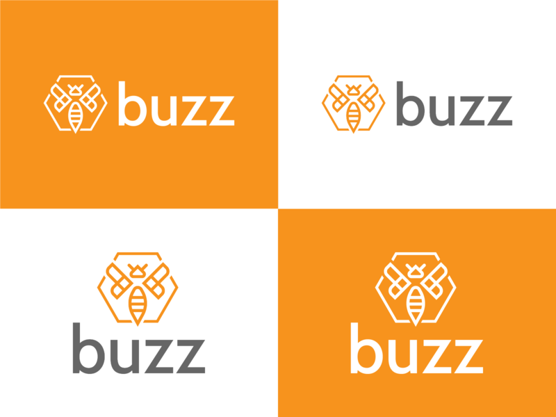 Buzz Branding vossen gerard boogaert mathijs buzz cbc design tyse hexagon wasp new summer orange branding logo honey connect bee buzz
