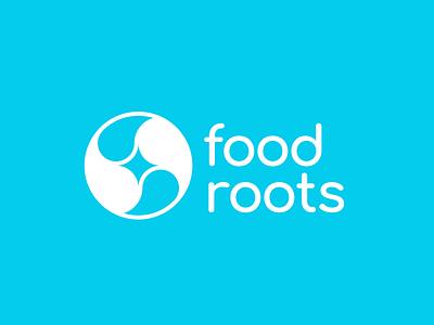 FoodRoots Logo globalwarming climate change root food green ying yang yingyang enviroment earth vector brand mathijs boogaert mark icon branding design logo mathijs boogaert