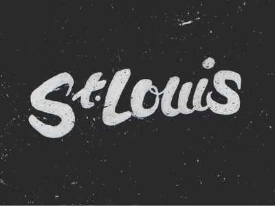 St. Louis lettering doodling script st. louis