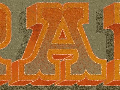RAD rad lettering orange