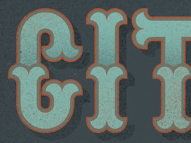 City lettering