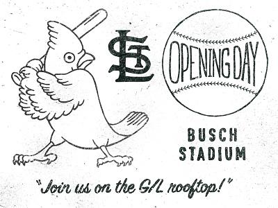 Opening Day illustration lettering st. louis baseball logo