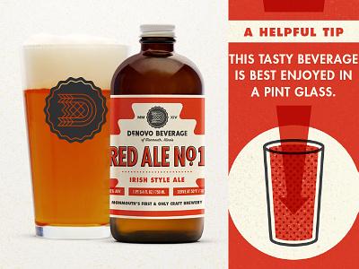 Red Ale Label red ale denovo beer label