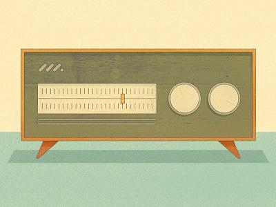 Radio retro radio illustration