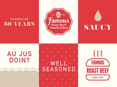 Graphic Language branding graphics roast beef