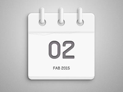A simple calendar milkwhite calendar