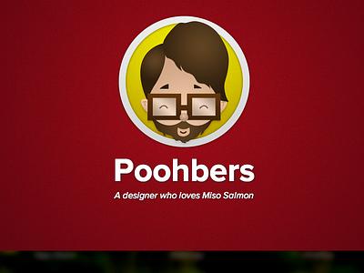 Poohbers.com illustration web responsive