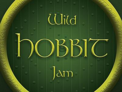 Wild Hobbit Jam hobbit lord of the rings label logo