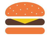 Hamburger Button w/Cheese