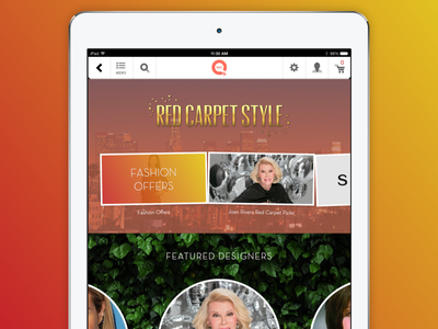 Red Carpet Style for the QVC iPad App qvc ipad