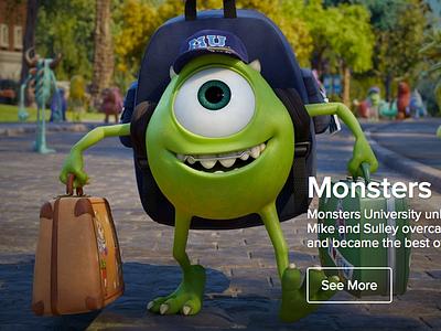 Pixar.com Concept pixar website