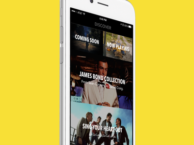 Sofa - Discover Section mobile iphone ios apps movies