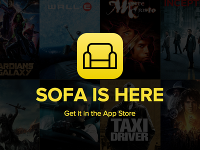 Sofa is here! iphone film movies apps sofa