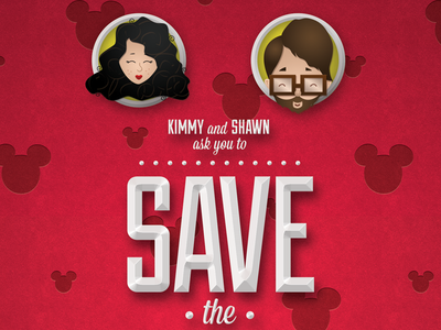 Save The Date wedding save the date illustration mickey disney