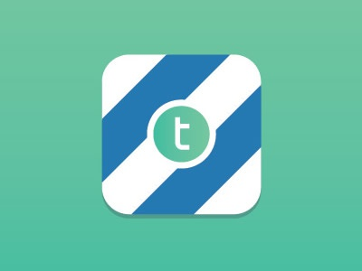 Twine icon app stripes flat