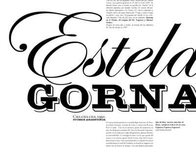Estela Gorna tipography type font design