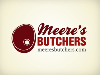 Meere's Butchers logo red meat