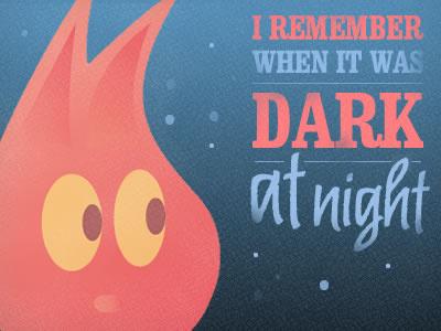 Dark at night character night