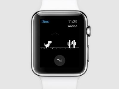Chrome offline Dino game on Apple Watch