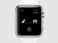 Chrome offline Dino game on Apple Watch