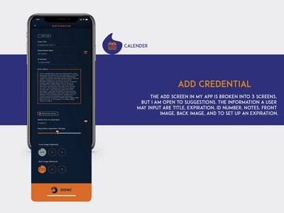 Credminder | UI