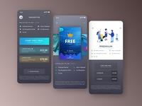 Subscription UI design