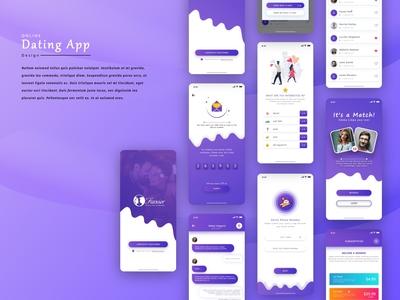 Fancier Dating App design Concept list message chatting subscription love otp code dribbble uiux user interface design uidesign design app designer ux ui app design app