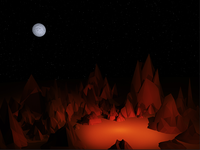 Desert Campfire (in progress)