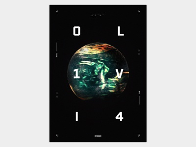 Olivia Poster 01 3d baby sci-fi sci fi typographic poster