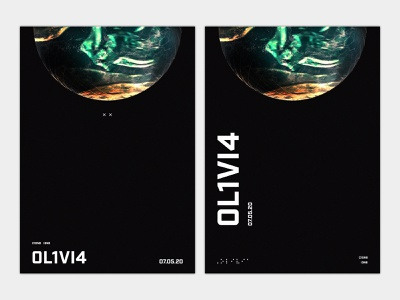 Olivia Poster 02 typography typographic poster sci-fi scifi baby 3d