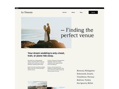 Blog Article wedding layout branding blog article typography web design
